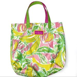 Lilly Pulitzer W/ Estee Lauder Fruity Canvas Tote